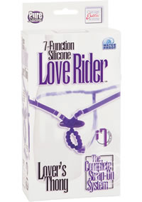 7 Func Silicone Love Rider Thong Purple