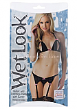 Wet Look Halter and Crotchless Panty